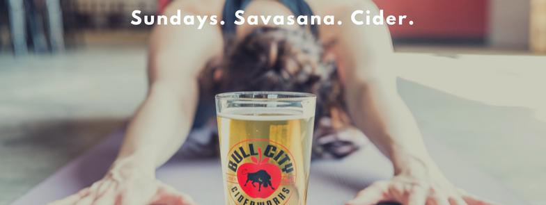 Sundays. Savasana. Cider.